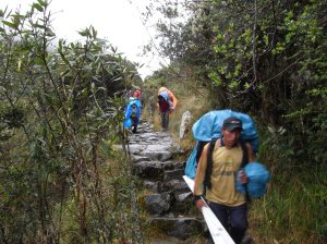 The porters are amazing... running down the hills carrying huge packs and wearing sandals made form old car tyres.