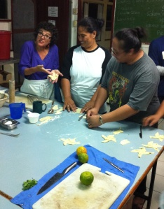 Teaching Tongans to make Romanian windmill pastries