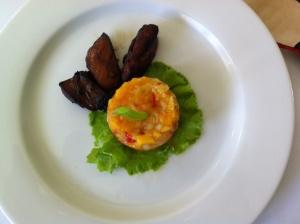 Marinated chicken with pawpaw salsa