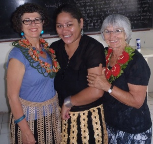 Mum and I with Leni a teacher at 'Ahopanilolo