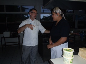 Gordon and Leni doing their cooking class 'thing'!!