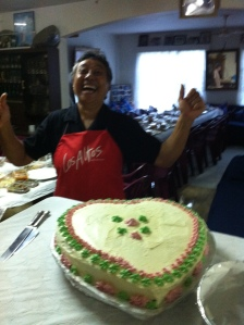 Saane was very happy with the cake!
