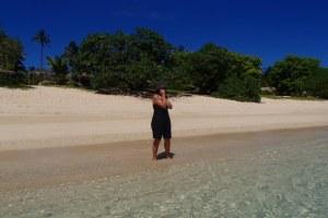 Sonia, the ABC local radio foreign correspondent on Foa Island, Haápai