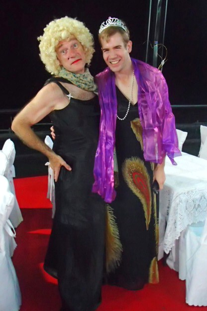 Kotoni with Princess Stephan(ie). We volunteers really got into the dress-up spirit with gusto!