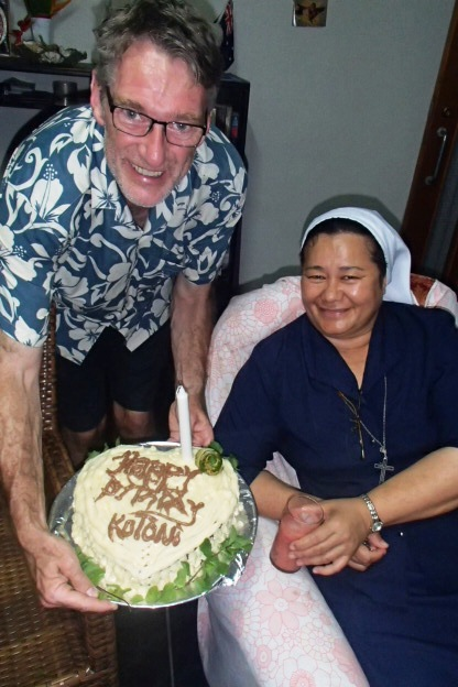 Sister Kieoma delivers Kotoni yet another birthday treat!!!