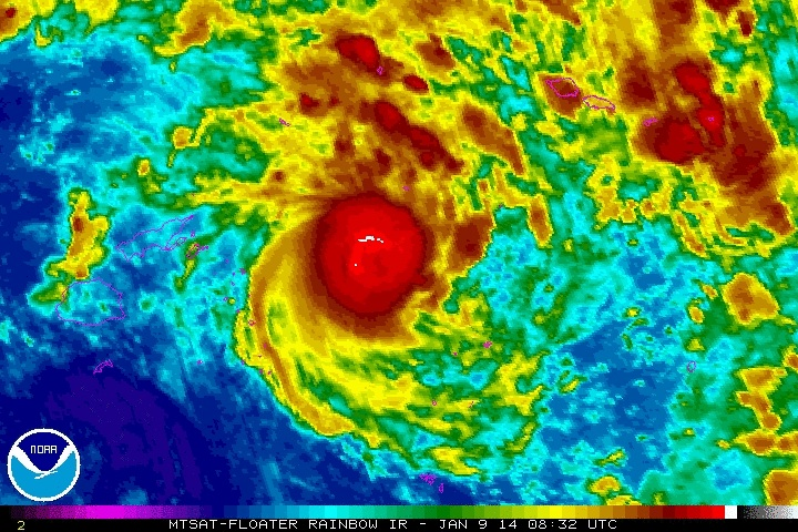 Ian hovering above Tonga... Please go away!