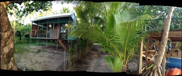 Our blue banana tree fale was our lovely home for two nights