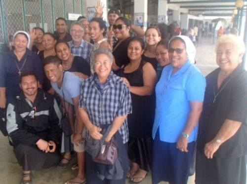 Nuku'alofa airport farewell party