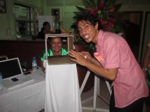 Malakai and Lani 'skyping' Tonga-style