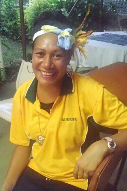 Sulia in her Aussie gear