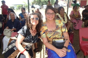 Sonia and Virginie the Alliance francaise volunteer